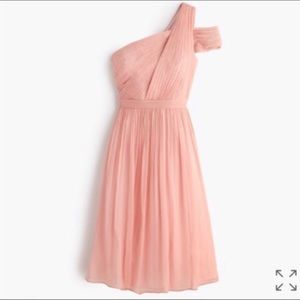J.Crew Cara Silk Chiffon Dress - Misty Rose